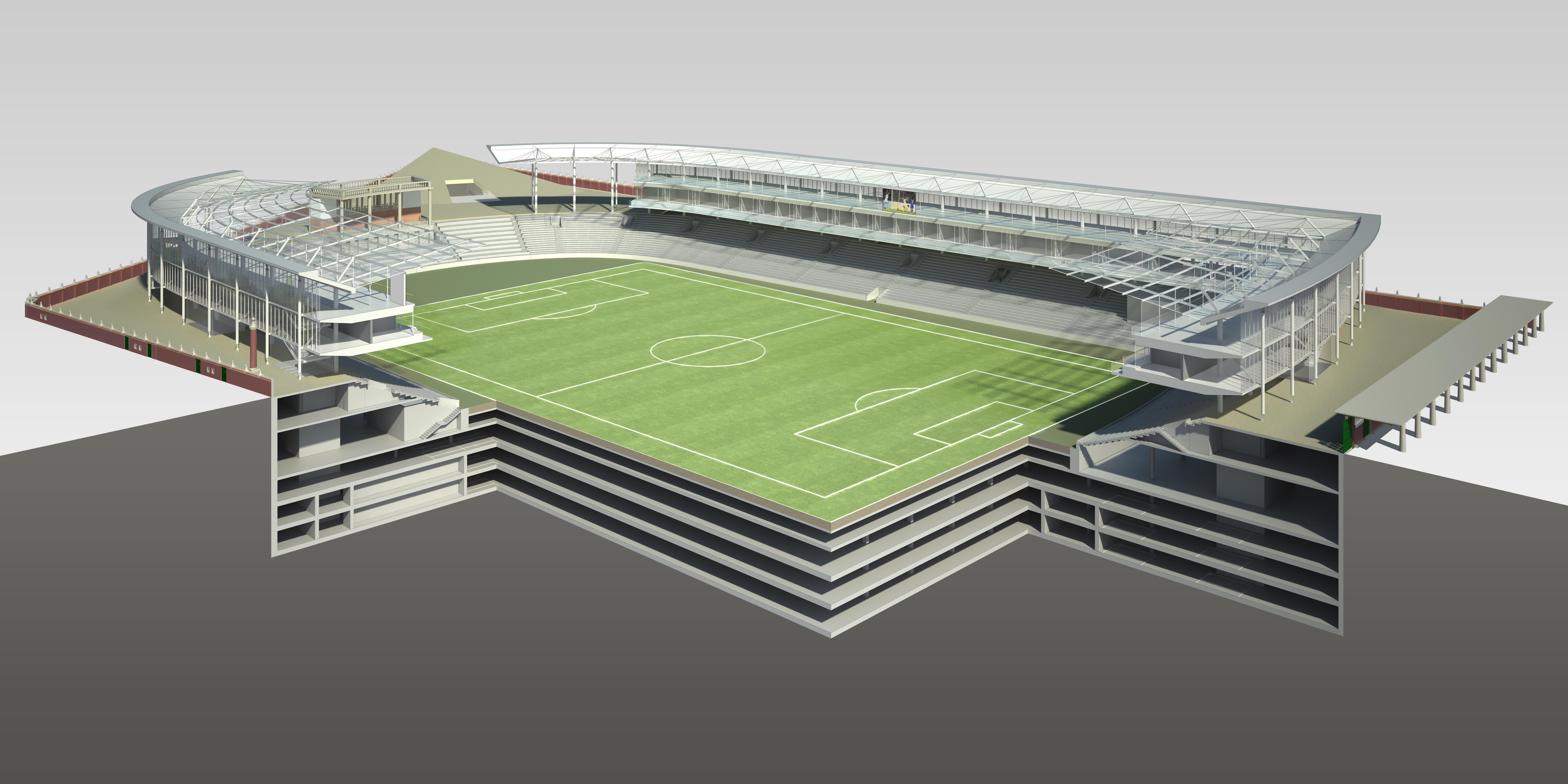 Foto In Video Gradnja Stadiona Do Prvega Januarja