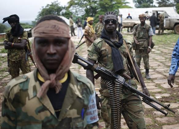 Portret borcev Seleka iz Srednjeafriške republike. (Foto - Goran Tomasević, Reuters)