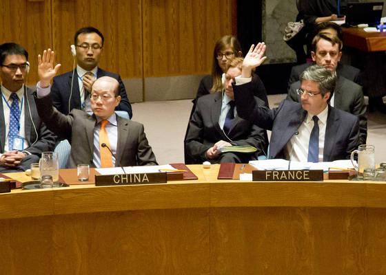 Glasovanje v varnostnem svetu Združenih narodov. (Foto - AP)