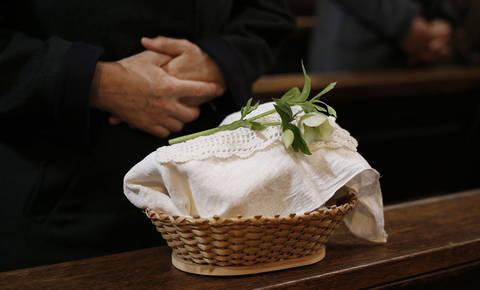 Blagoslov velikonočnih živil v Frančiškanski cerkvi