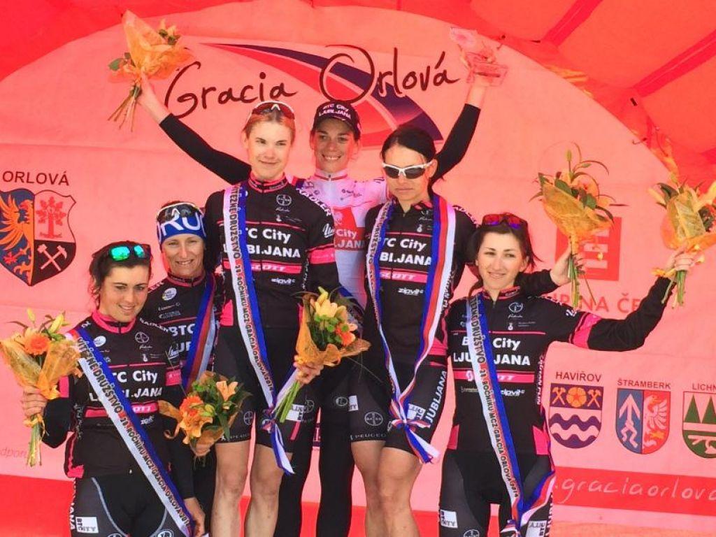 BTC City Ljubljana, v imenu ženske na kolesu