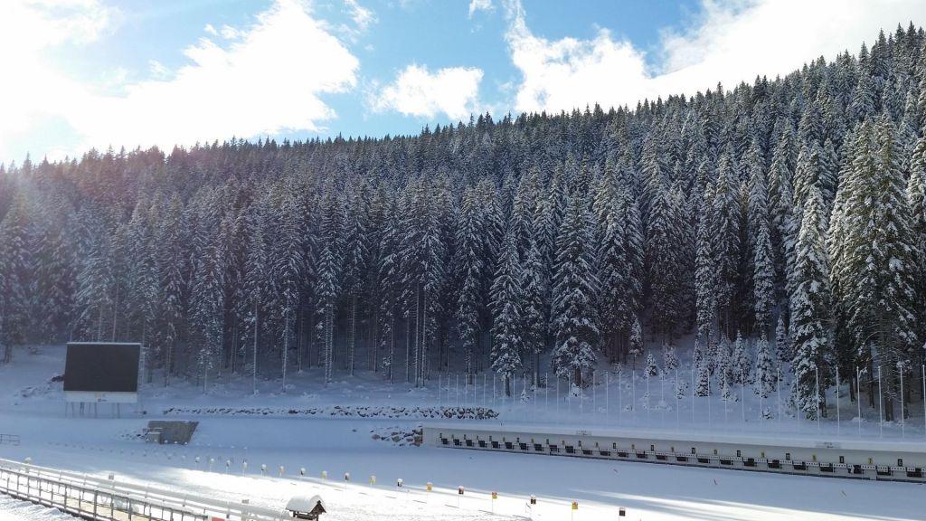 FOTO:Zimska idila na Pokljuki še pred začetkom tekmovanj