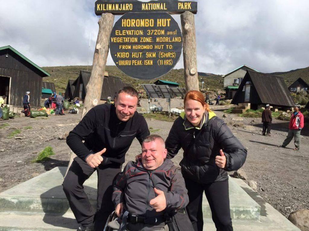 Boštjan Lederer je z invalidskim vozičkom premagal 3720 metrov