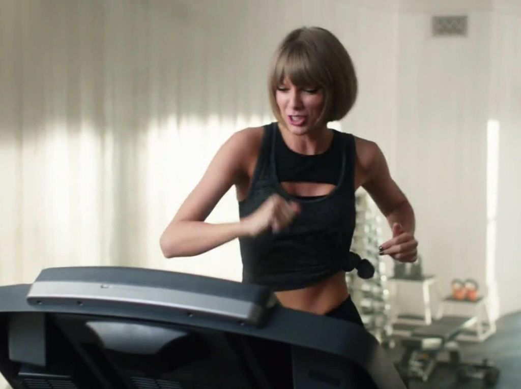 Video: Taylor Swift in tekaška steza