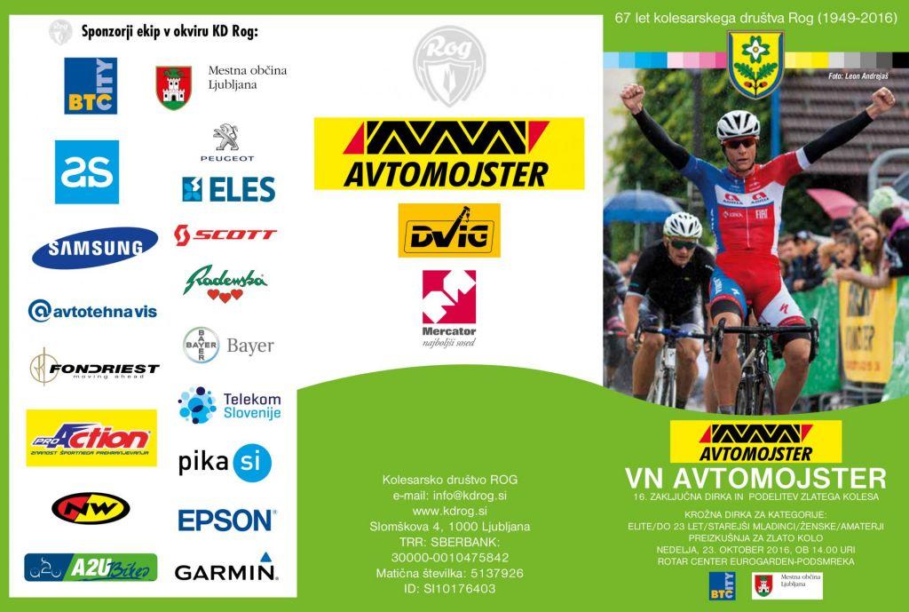 Zaključek tekmovalne kolesarske sezone VN Avtomojster in podelitev priznanj
