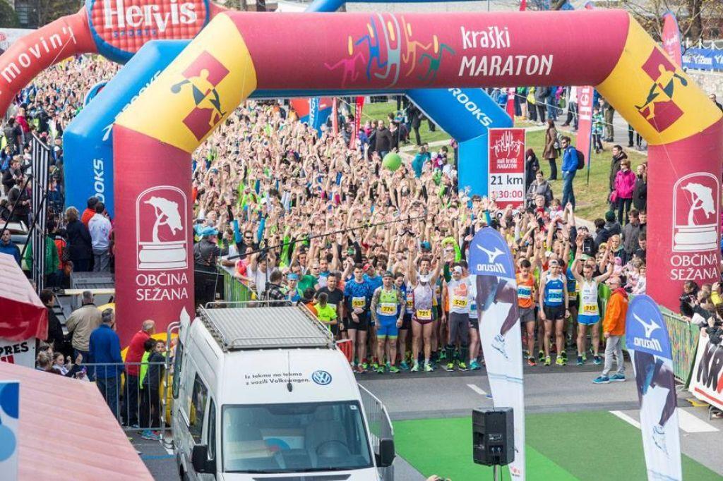 Več kot 3000 tekačev na 17. Malem kraškem maratonu