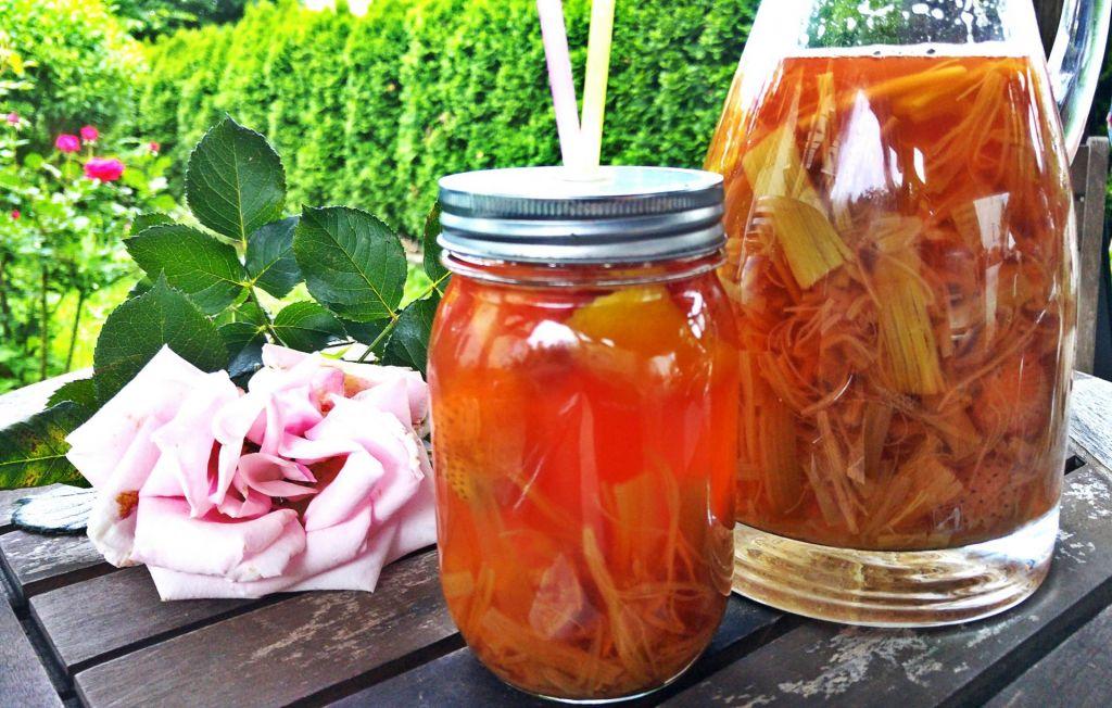 FOTO:Poletov recept: Kompot iz rabarbare in jagod