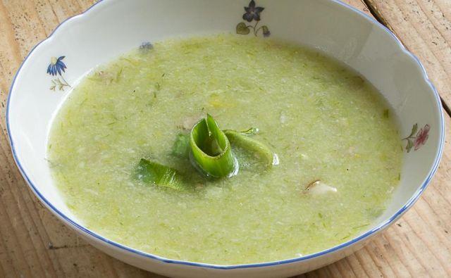 Porova juha. FOTO: Krištof Koman
