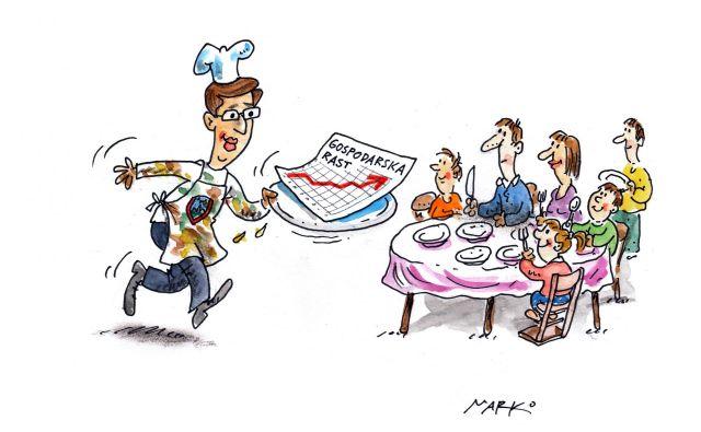 Družinski meni. Karikatura: Marko Kočevar