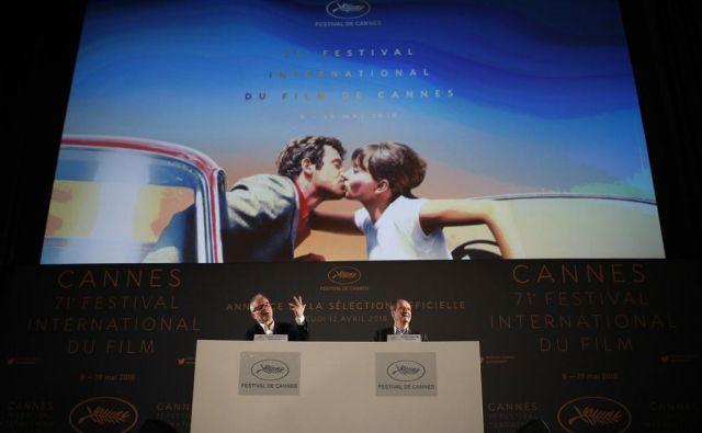 Na današnji novinarski konferenci v Parizu je direktor filmskega festivala v Cannesu naznanil letošnji program. FOTO: AP