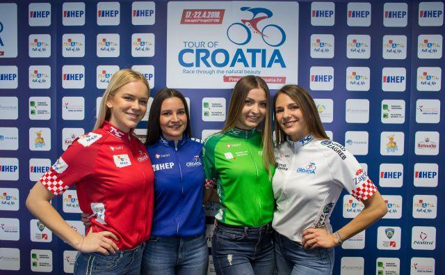 Majice na dirki po Hrvaški - rdeča za zmagovalca, modra za najboljšega hribolazca, zelena za najboljšega šprinterja in bela za najboljšega mladega kolesarja.