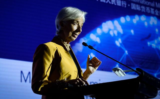 IMF, ki ga vodi Christine Lagarde, računa na solidno rast svetovnega gospodarstva. FOTO:Wang Zhao/AFP