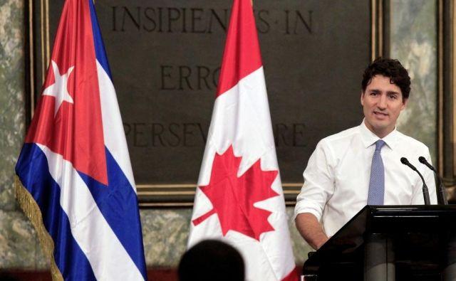 Kanadski predsednik vlade Justin Trudeau je predaval na Univerzi v Havani novembra 2016. FOTO: Enrique de la Osa/AFP