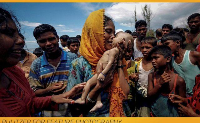 Reuters je dobil Pulitzerjevo nagrado za fotografijo o preganjanju Rohingov, muslimanske manjšine v Mjanmaru. Na fotografiji je mama, ki ji je med begom umrl poldrugi mesec star sin.<br /> FOTO Reuters