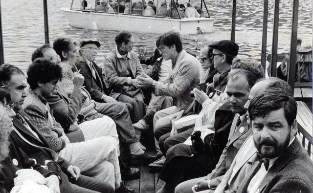 Bled, 15. maj 1989. Mednarodno pisateljsko srečanje PEN na Bledu.