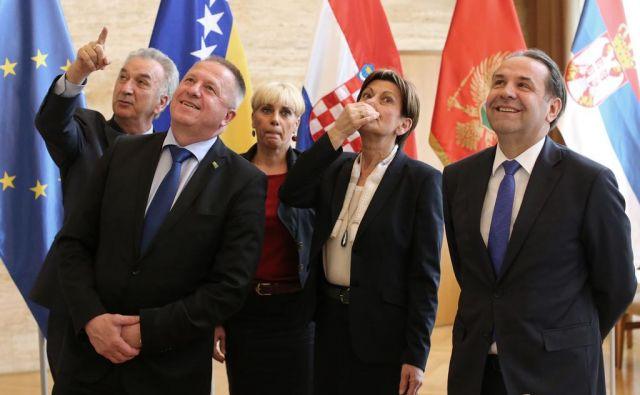 Ministri vlad iz regije v pričakovanju rešitve v primeru Agrokor. FOTO: Tomi Lombar/Delo