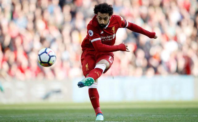 V idealni postavi je seveda tudi daleč najboljši strelec sezone Mohamed Salah. Foto Carl Recine/Reuters