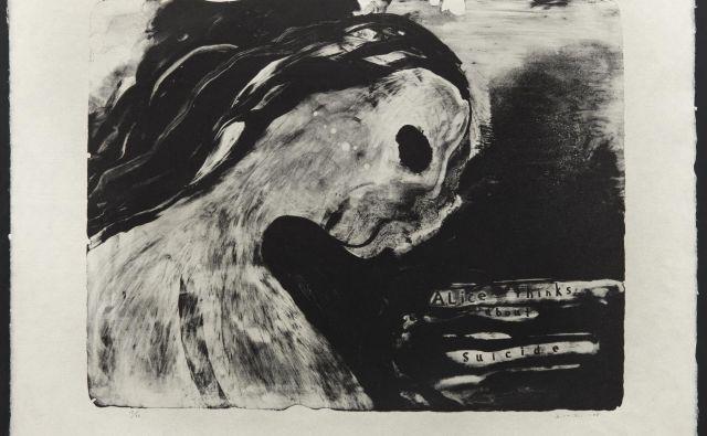 David Lynch, Alice razmišlja o samomoru, 2008, litografija.