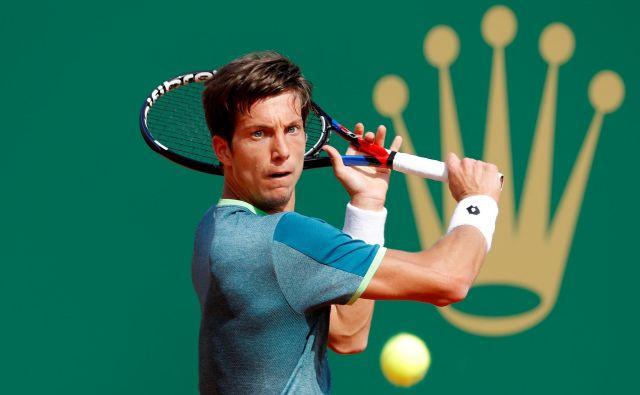 Aljaž Bedene je drugič nastopil na turnirju v Monte Carlu, obakrat ga je v 2. kolu ugnal Rafael Nadal. FOTO: Eric Gaillard/Reuters