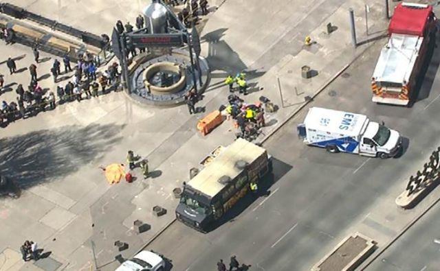 Posnetek iz zraka terorističnega napada v Torontu. FOTO: CNN