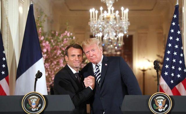 Negotovo je, koliko je bilo Macronovo strinjanje s Trumpom, da je treba dogovor zaostriti, taktično kimanje voditelju, ki težko prenaša nasprotovanje. FOTO: AFP