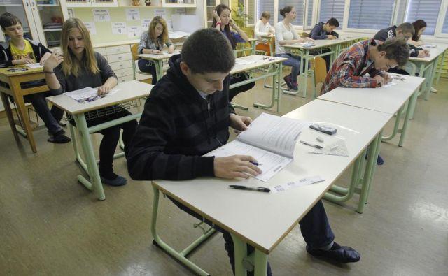 Nacionalni preizkus znanja v matematiki na osnovni šoli Danile Kumar v Ljubljani leta 2013. FOTO: Leon Vidic/delo/
