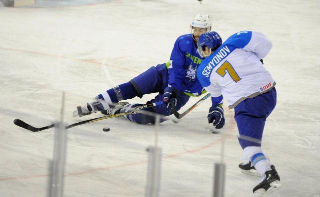Miha Verlič in soigralci so padli na madžarskem ledu. FotoBalazs Czagany/AP