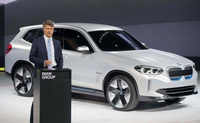 BMW i3x je še koncept, čez dve leti pa bo prvi povsem električni SUV te znamke. FOTO: AFP