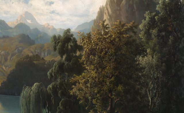 Anton Karinger: Bled, 1864. FOTO: Arhiv Narodne galerije FOTO: Arhiv Narodne Galerije