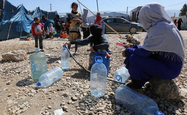 Begunsko taborišče v bližini mesta Bar Elias na libanonsko-sirski meji. FOTO: Boštjan Videmšek
