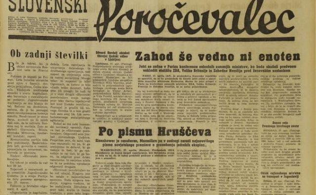 Časnik Delo je 1. maja 1959 nadomestil Slovenskega poročevalca in Ljudsko pravico. FOTO: Leon Vidic/Delo