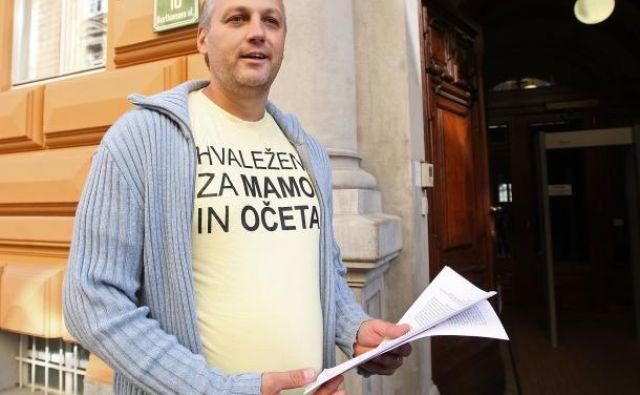 Predsednik stranke Glas za otroke in družine Aleš Primc FOTO: Igor Zaplatil