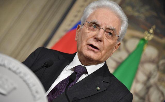 Italijanski predsednik Sergio Mattarella FOTO: Andreas Solaro/AFP