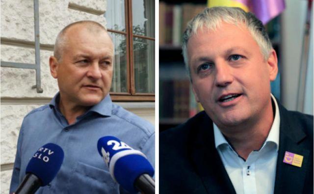 Franc Kangler in Aleš Primc sta se pritožila na odločitev, da zavarnjejo kandidatno listo Združene desnice v Novem mestu in Kranju. FOTO: Regent Andrej/Pivk Mavric