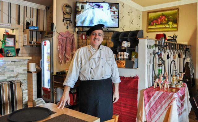 Ramee Murad – prvi arabski kuhar v Sloveniji. FOTO: Uroš Mencinger
