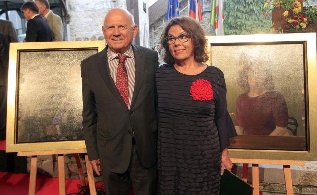 Anita Ogulin in Janez Kocjančič. FOTO: Roman Šipić/Delo