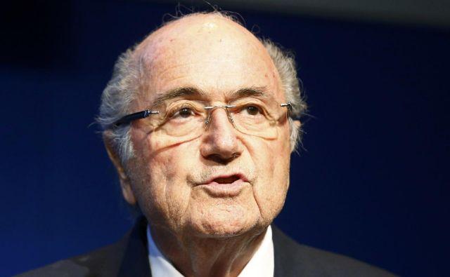 Sepp Blatter je bil ponovno kritičen. FotoRuben Sprich/Reuters