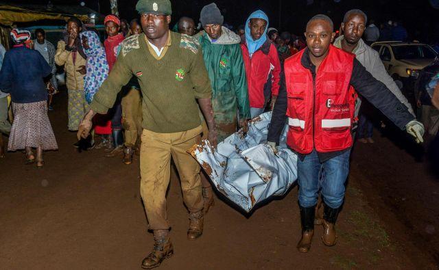 Popustil je jez Patel pri kraju Solai, ki leži 190 kilometrov severozahodno od Nairobija. FOTO: AFP