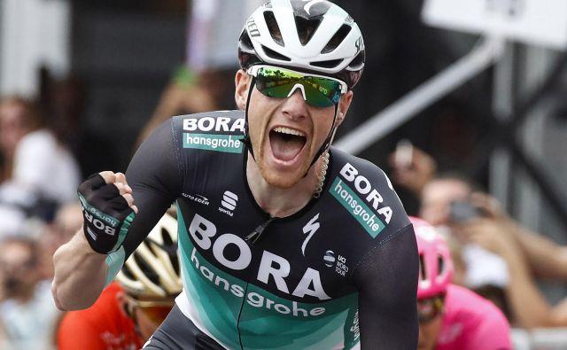 Sam Bennett je bil navdušen nad največjo zmago v karieri. Foto Luk Benies/AFP
