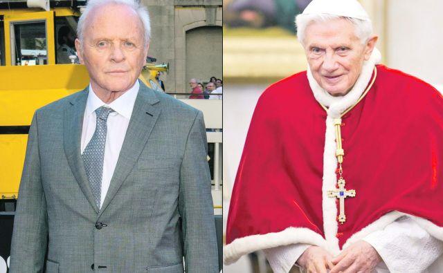 Anthonyja Hopkinsa bomo v filmu Papež gledali kot Benedikta XVI. FOTO: Wikipedia
