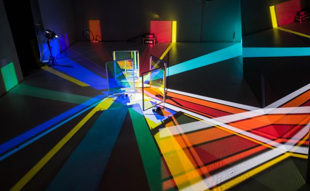 Svetlobna instalacija japonske ustvarjalke Yoko Seyama Saiyah. FOTO: Arhiv Svetlobne gverile