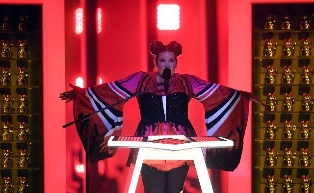 Zmagovalka Evrovizije 2018 je Netta, predstavnica Izraela. FOTO: Francisco Leong/Afp