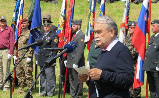 Kmecl je spomnil na geslo pisatelja Ivana Cankarja, da si bo narod pisal sodbo sam. FOTO: Mateja Kotnik