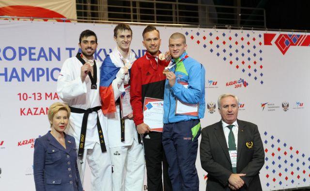 Ivan Trajković je bil vesel, ker je nadaljeval niz vrhunskih dosežkov na velikih tekmovanjih. FotoPeter Bolz