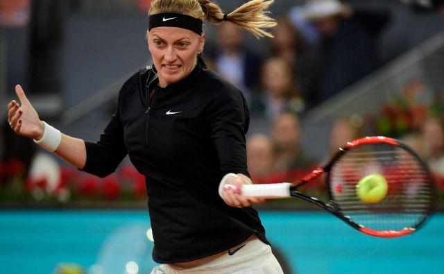 Petra Kvitova se je izstrelila med favoritinje Roland Garrosa. FOTO: Javier Soriano/Afp