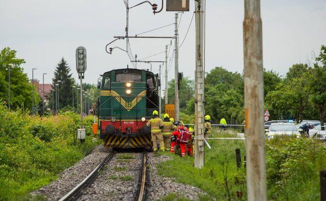 Vlak je povozil človeka v Šiški FOTO: Anze Furlan