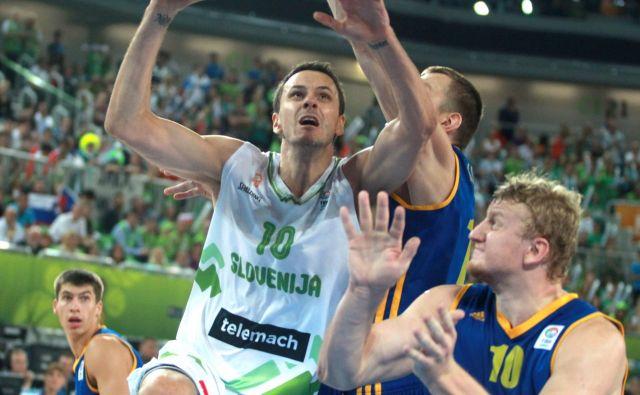 Boštjan Nachbar med zadnjim reprezentančnim nastopom leta 2013.