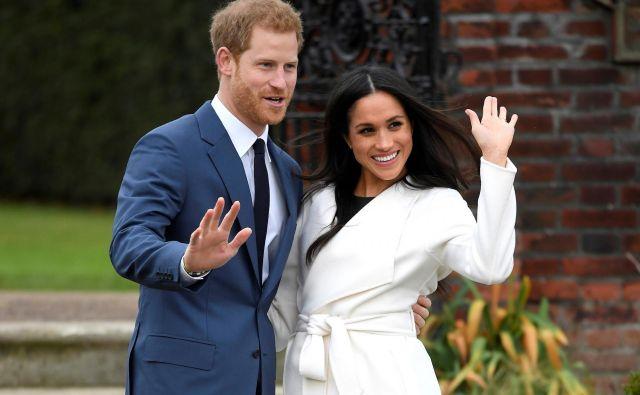 Čeprav je princ Harry »šele« šesti v vrsti za britanski prestol, pa je njegova poroka z Meghan Markle deležna velike pozornosti. FOTO: Reuters