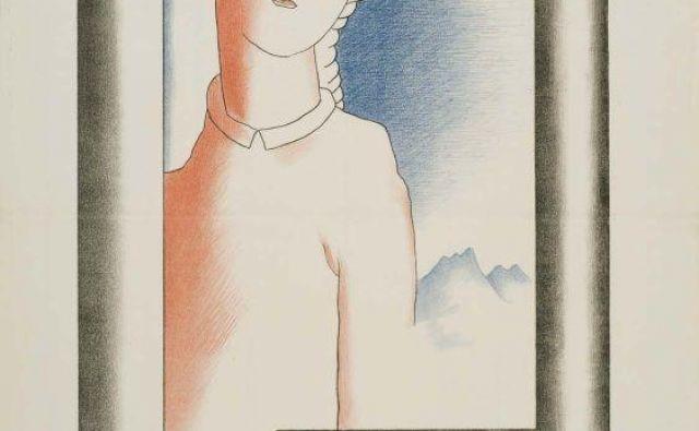 Slovensko slikarstvo v Pragi, 1927, oblikovanje plakata Veno Pilon. FOTO: Arhiv Narodne Galerije