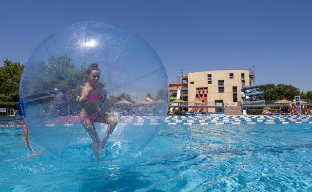 Terme Ptuj: Termalni park poleti ponuja številne vodne aktivnosti.